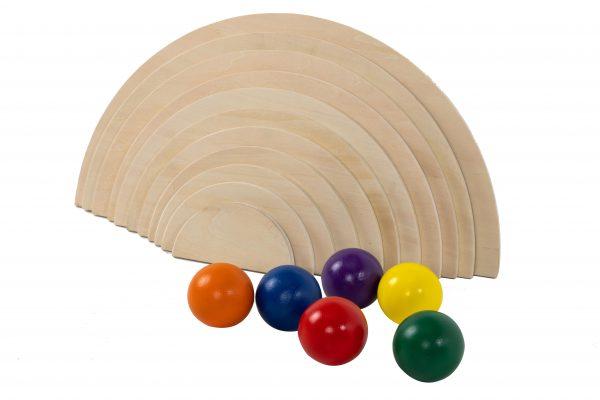 Natural Semi Circles an Rainbow Balls (5)